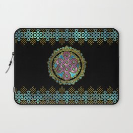 Endless Knot in Mandala Lotus shape Laptop Sleeve
