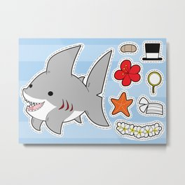 Sharky Dress Up Metal Print