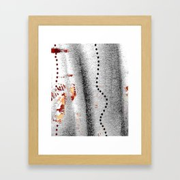 Line of points Framed Art Print