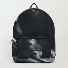 'My Muse, Plan B' female form nude black and white photograph / art photography Backpack
