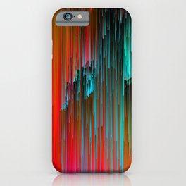 Nice Day for a Walk - Abstract Glitchy Pixel Art iPhone Case
