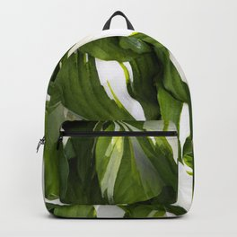 Beautiful Variagated Green Leaves Nature #decor #society6 #buyart Backpack