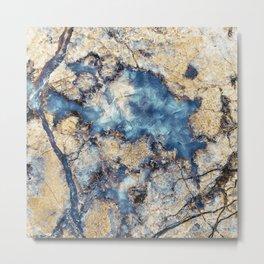 Crystal Marble Metal Print