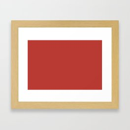 PANTONE 18-1550 Aurora Red Framed Art Print