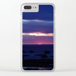 Purple Glow at Sunset Clear iPhone Case