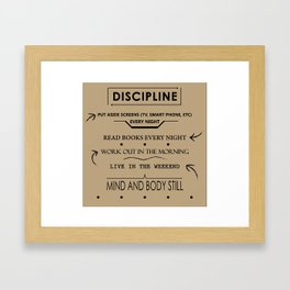 Daily Discipline Framed Art Print