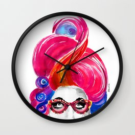 Alice, Crazy Hair! Wall Clock