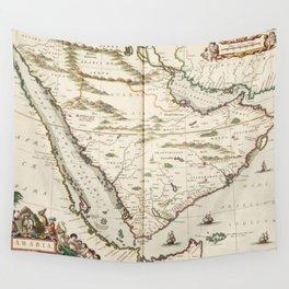 Vintage Map of Saudi Arabia (1662) Wall Tapestry