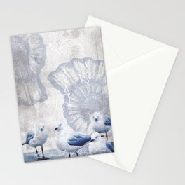 Sea gull ocean mixed media art Stationery Cards