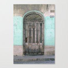 Shuttered Door  Canvas Print
