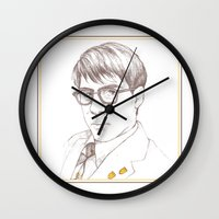 rushmore Wall Clocks featuring Rushmore by Michelle Eatough
