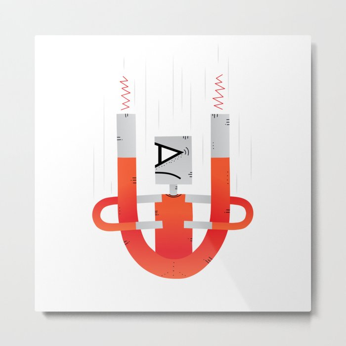 Magnets, how do they work? Metal Print