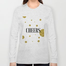 Champagne Quotes Cheers POP FIZZ CLINK Sign Printable Art Foil Print Gold Foil Alcohol Quote Long Sleeve T-shirt