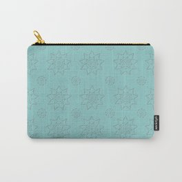 3D Texture Turquoise - Pointilism Pattern Carry-All Pouch