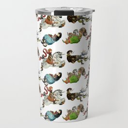 Magicians and their pets -pattern- Travel Mug