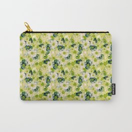 Green Floral Garden Carry-All Pouch