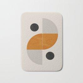 Abstract Geometric Shapes Bath Mat