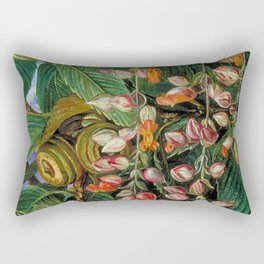 A Dar-jeeling Oak Festooned with Flowering Climbers still life painting Rectangular Pillow