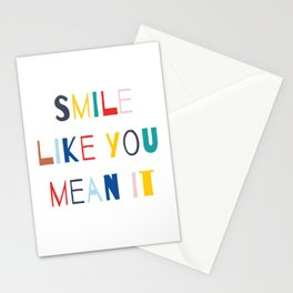 Smile Like You Mean It Stationery Cards