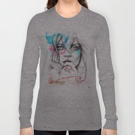 Kate Moss by Leo Tezcucano Long Sleeve T-shirt