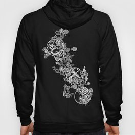 Pieces of China: Clusters (white on red) Hoody