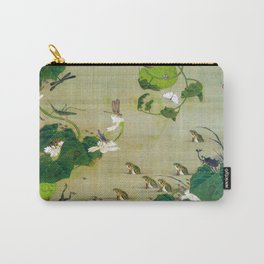 12,000pixel-500dpi - Ito Jakuchu - Pond insects - Digital Remastered Edition Carry-All Pouch