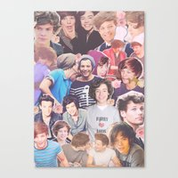 larry stylinson Canvas Prints featuring Harry and Louis - Larry Stylinson by Troy Abed