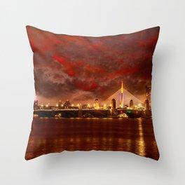 Boston Charles River Bridges Throw Pillow