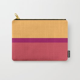 A marvelous pattern of Almost Black, Dark Fuchsia, Brick Red, Light Red Ochre and Pastel Orange stripes. Carry-All Pouch