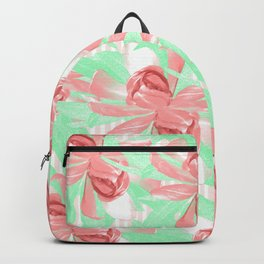 Candy Stripe Pink Blush Floral Backpack