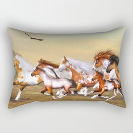 Wild Horses Herd Rectangular Pillow