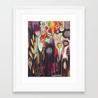 "flora bowley Framed Art Prints featuring ""Release Become"" Original Painting by Flora Bowley by Flora Bowley"
