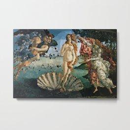 Botticelli Venus On Half Shell Low Poly Geometric Triangles Metal Print