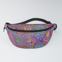 Psychedelic Rainbow Glitter Bomb Fanny Pack