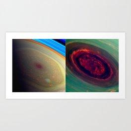 THE ROSE Saturn's north polar storm Art Print