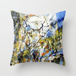 """ Wolf Daisies "" Throw Pillow"