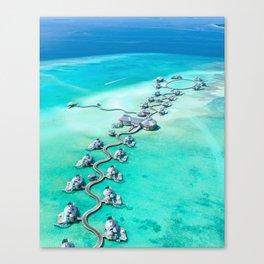 Maldives Turquoise Ocean Canvas Print