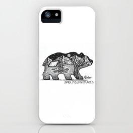 """Wander Bear"" Hand-Drawn by Dark Mountain Arts iPhone Case"