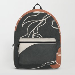 Minimal Woman Line Art 08 Backpack