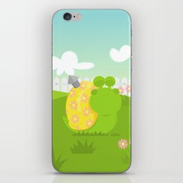 Green Snail (male) iPhone Skin
