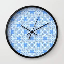 Sky Blue Lace Wall Clock
