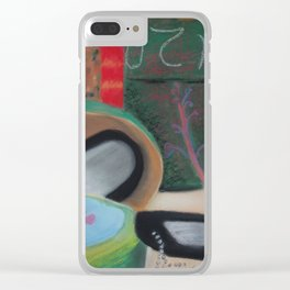 Waterfall Wall Clear iPhone Case