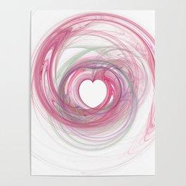 Valentine's Fractal VII - Light Poster