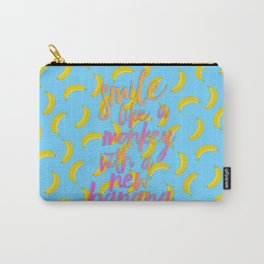 Smile Like A Monkey With A New Banana Carry-All Pouch