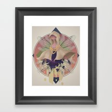 specter of empty cloaks Framed Art Print