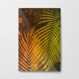 TROPICAL LEAVES GREEN MOCCA no2 Metal Print