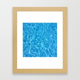pool water Framed Art Print