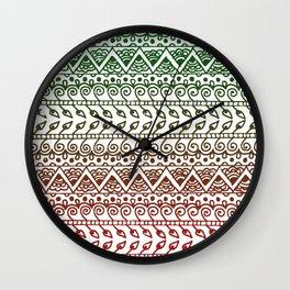 Holiday Henna Pattern Wall Clock