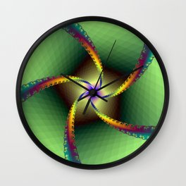 Whirligig in Green Wall Clock