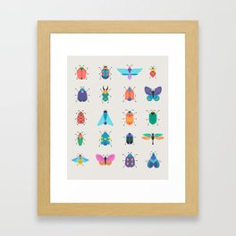 Bugs and insects Framed Art Print